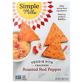 Simple Mills Cracker Pita Rstd Red Ppr, Case of 6 X 4.25 Oz