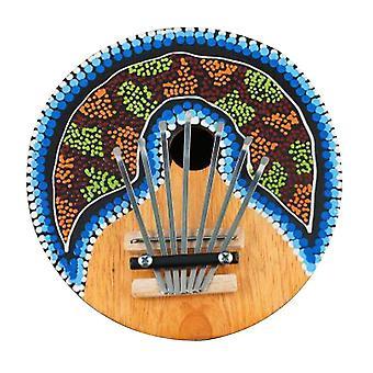 Kalimba Thumb Piano 7 Keys Tunable Coconut Shell Painted Musical Instrument