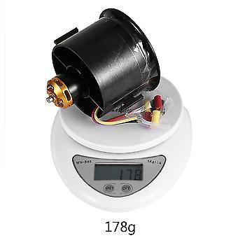 70 Kanal Qf2827 2600kv 4s 12-blades børsteløs Outrunner Motor Duct Fan
