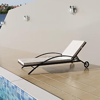 vidaXL chaises avec rembourrage & rouleau poly Rottan Braun