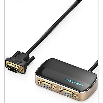 VGA Splitter 1080P VGA Switch 1 În 2 Out VGA Male to Female Switcher Cable pentru Proiector Monitor VGA