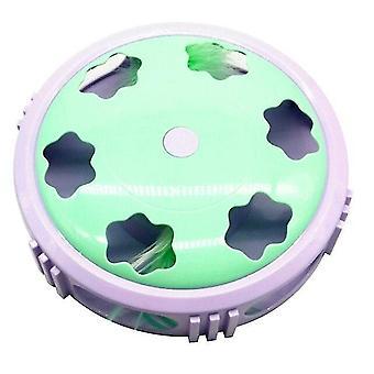 Elektrisch kat speelgoed met veer draaitafel bewegende muis kat krassen apparaat kat speelgoed (groen)
