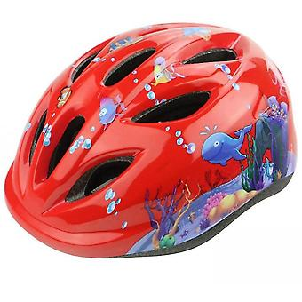 Bicycle Scooter Skating Speed Skating Helmet Helmet(Red)