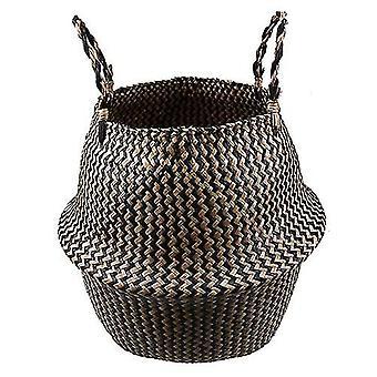 Seagrass Natural Rattan Storage Basket - Flower Pot Plant Pot Holder Laundry