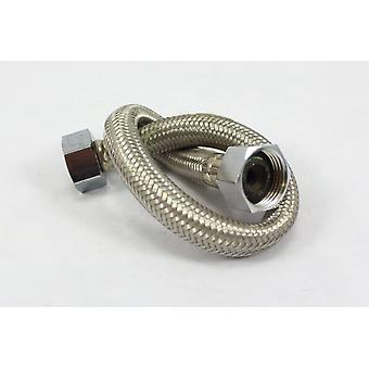 "60cm Stainless Steel Braided Flexible Flexi Hose - 1/2"" x 1/2"" BSP 10mm Bore"