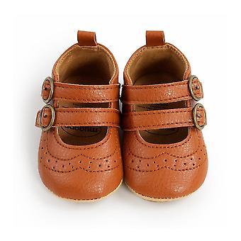الخريف الطفل بو أحذية جلدية