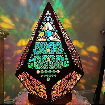 LED Bohemian Projector Floor Projection Lamp Table Bedside Starry Sky Floor Projection