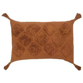 "Spura Home Kalina Brown Contemporary 16""x26"" Pillow Cushion"