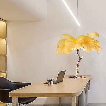 Nordic Modern And Luxury Tree Style-feather Lamp