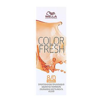 Colore Tinta Semipermanale Fresco Wella Nº 8/0 (75 ml)