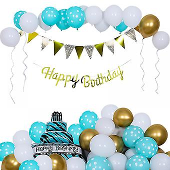 Bright Green Birthday Party Background Balloon Set, Party Decorations, Holiday Decoration Balloons