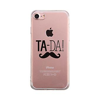 Tada Mustache Transparent Phone Case Cute Clear Phonecase