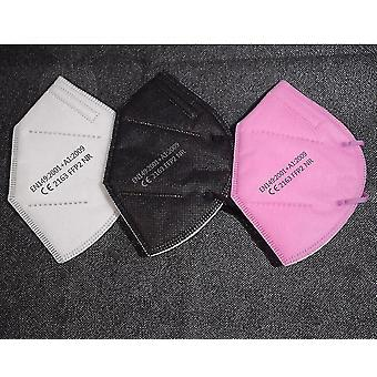 5 Réteges légzőmaszk ffp2 95% szűrés és por elleni, ce(Pink 100 Piece)