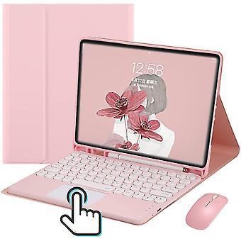 """Tastatură Bluetooth cu mouse-ul Stand Hu Cover pentru ipad Air 4 10.9 """""""