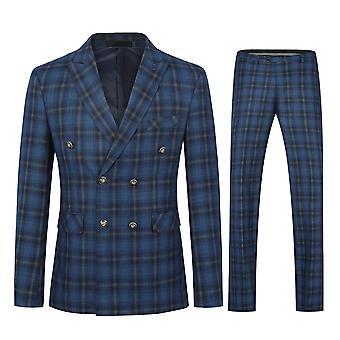 מייל Mens חליפות 2 חלקים סלים בכושר רזה חליפה הרינגבון וינטג חליפת טוקסידו רשמית מכנסיים