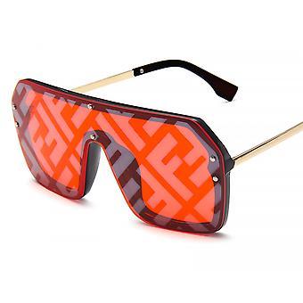 Übergroße Shield Gradient Lens Sonnenbrille