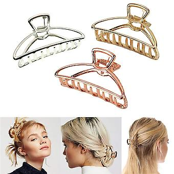 3 csomag fém hajkarom hajtű vastag haj (ezüst + arany + rózsa arany)