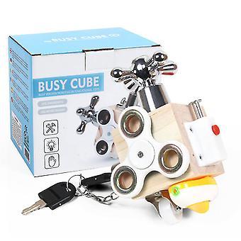 Trä upptagen ombord kub aktivitet Fidget pedagogiska tåg färdigheter sensorisk leksak