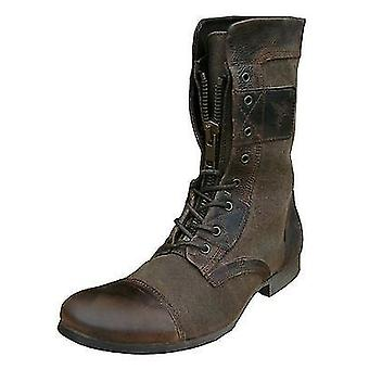 Henleys Sakura Men's Leather Textile Vintage Fashion Casual Boots