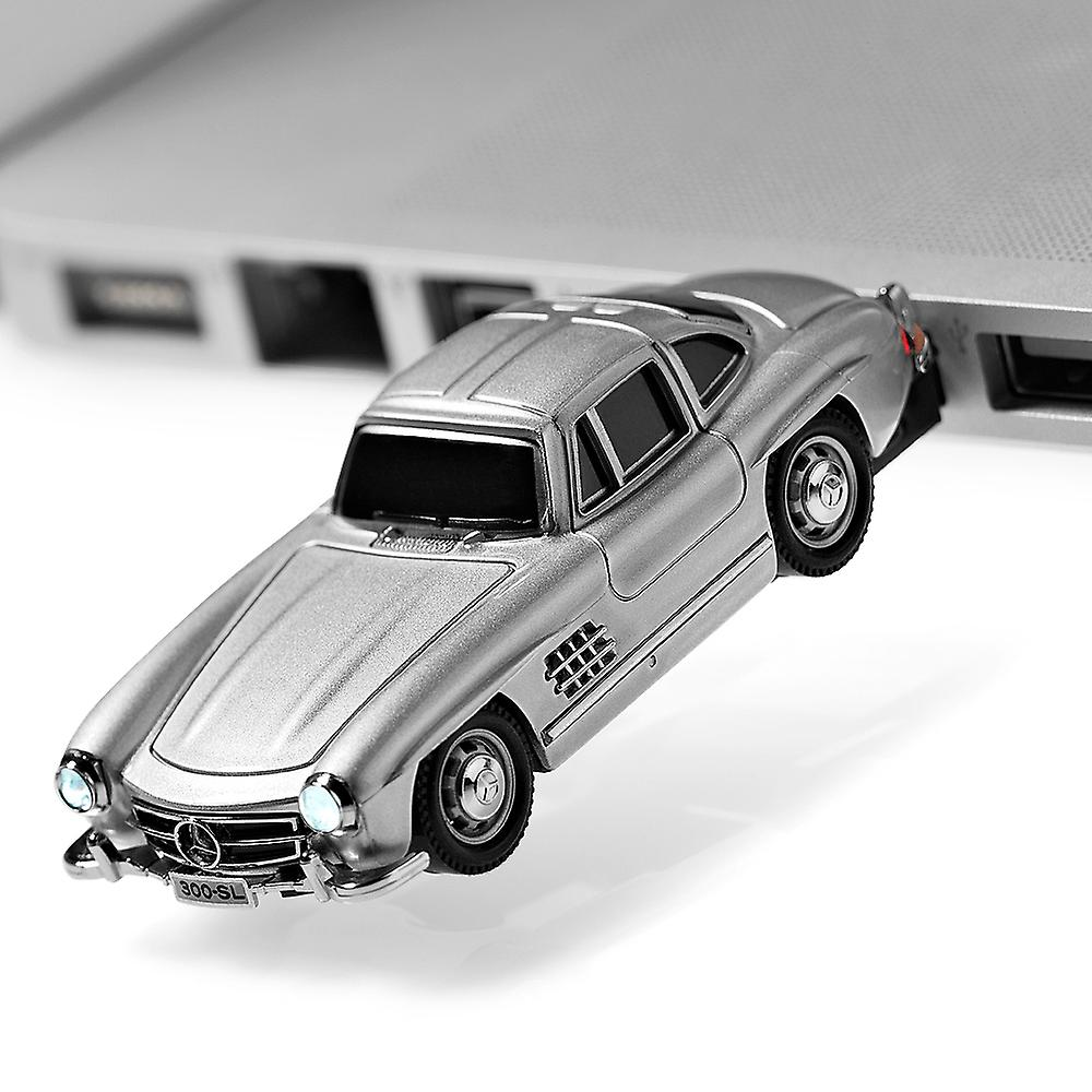 Mercedes Benz 300SL Gullwing USB Memory Stick - Silver