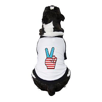 العلم الأميركي توقيع السلام يوم الاستقلال الصغيرة المحملة البيسبول الحيوانات الأليفة