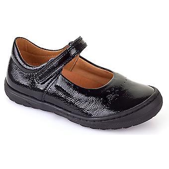 Froddo Girls G3140053-1 School Shoes Black Crinkle Patent