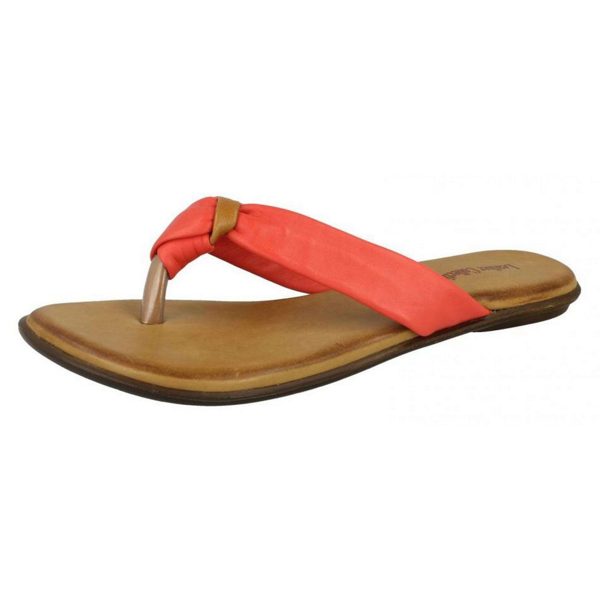 d5e5fba3391 Leather Collection Womens Ladies Knotted Toe Post Flip Flop