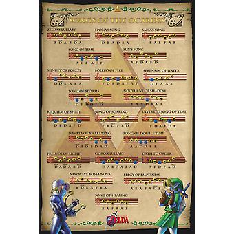 Zelda - Songs of the Ocarina Poster Poster Print