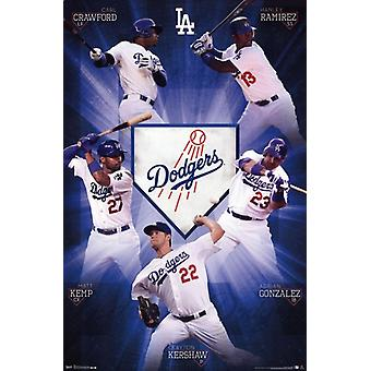 Los Angeles Dodgers - Team 13 Poster Poster Print