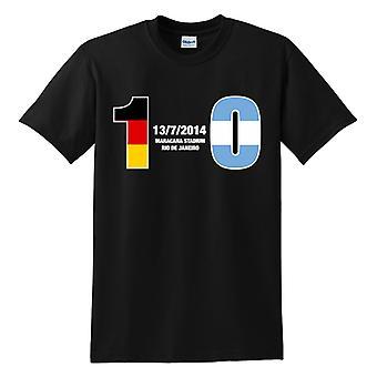 Deutschland 1 Argentinien 0 T-Shirt (schwarz)