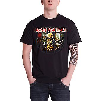 Logotipo de banda Iron Maiden T camisa Eddie Evolution oficial Mens Black