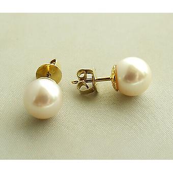 Gouden oorknopen met parel