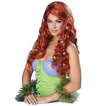 Aquático fantasia sereia Princesa Ariel Auburn história livro semana mulheres traje peruca