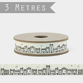 East of India TERRACE OF HOUSES Cottage Grosgrain Ribbon 3m Craft