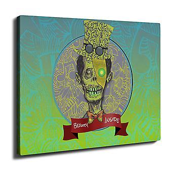 mies Zombie kauneus kuollut seinän taide kankaalle 40 x 30 cm | Wellcoda