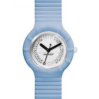 Hip hop watch wrist watch silicone watch crystal small cyan HWU0387