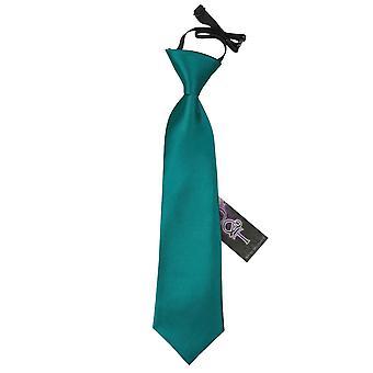 Teal-Plain Satin elastische Krawatte für jungen