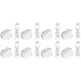 Universell komfyr ovnen Grill kontroll knotter og adaptere hvit passer alle gass elektrisk x 8