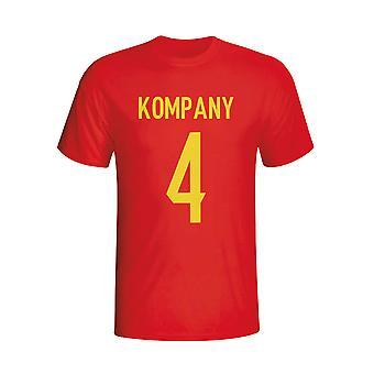 Vincent Kompany Belgien Hero T-shirt (rød) - børn
