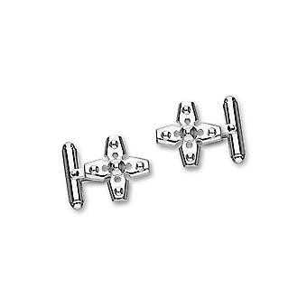Sterling Silver tradizionale scozzese a forma di croce Bar gemelli