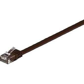 Goobay RJ45 Networks Cable CAT 6 U/UTP 7 m Dark brown highly flexible