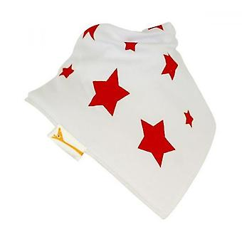 White & red stars bandana bib