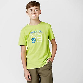 New Regatta Boy's Short Sleeve Round Neck Bosley CoolWeave T-Shirt Green