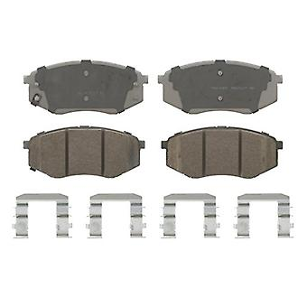 Wagner ThermoQuiet QC1447 Ceramic Disc Pad Set With Installation Hardware, Front