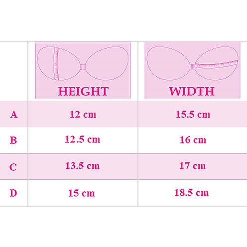The Prom Bra - Padded Stick on Bra, A - D Cup