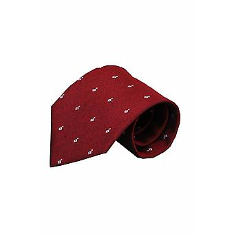Rode zijden stropdas Erba 01
