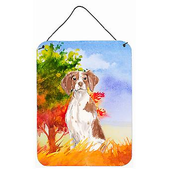 Fall Brittany Spaniel Wall or Door Hanging Prints