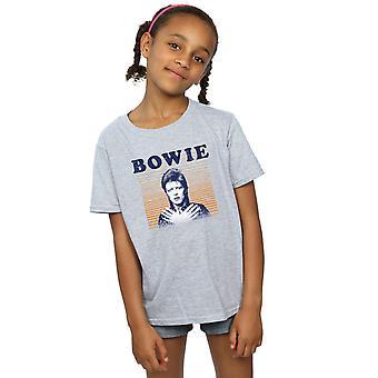 デヴィッド ・ ボウイの女の子オレンジ ストライプ t シャツ