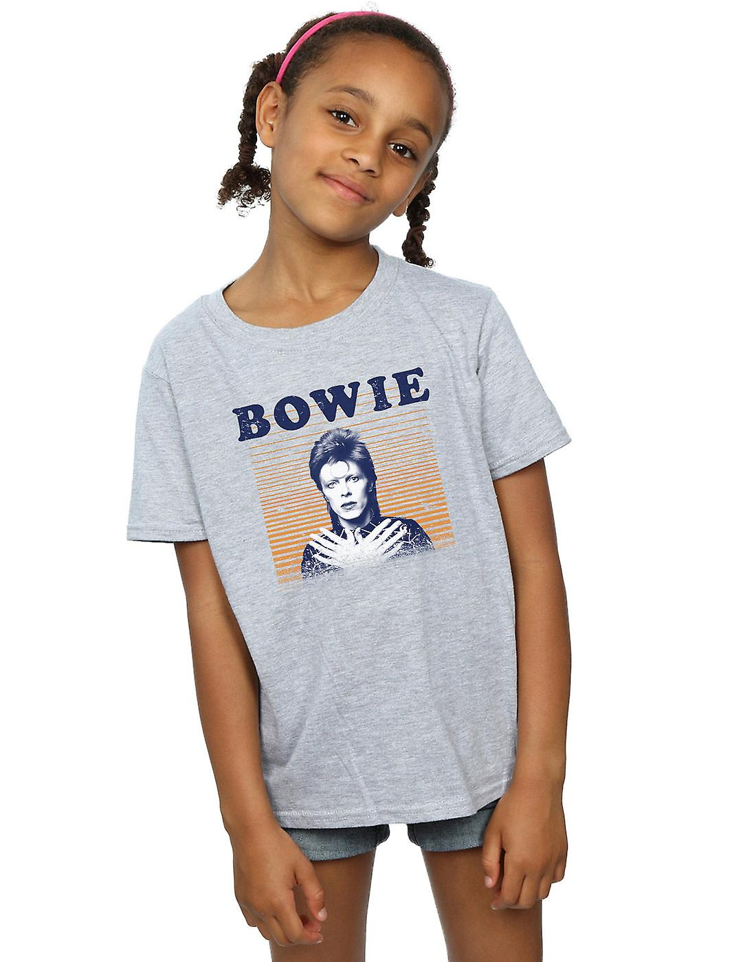 David Bowie Girls Orange Stripes T-Shirt