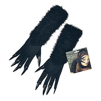 Katze-Handschuhe mit Krallen.